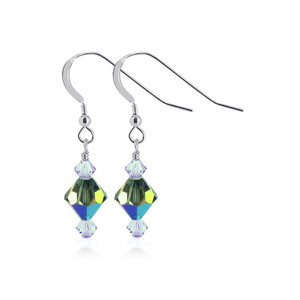 Vitrail Crystal Handmade Drop Earrings
