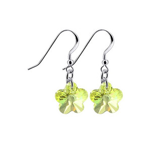 Yellow Flower Shape Drop Earrings