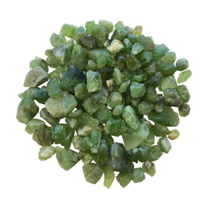 Natural Raw Green Peridot Rough Mineral Crystal