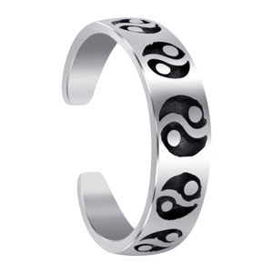 Sterling Silver Yin Yang Toe Ring