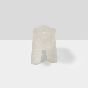 Natural Hand Carved Clear Quartz Gemstone