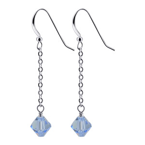 Light Blue Crystal Handmade Drop Earrings