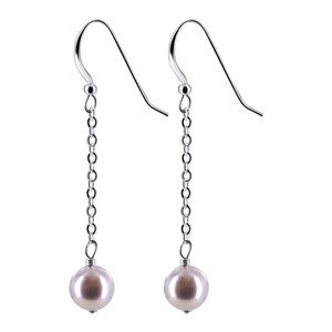 Lavender Faux Pearl Drop Earrings