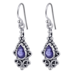 Amethyst Gemstone Sterling Earrings