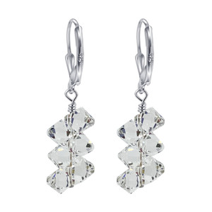 Swarovski Elements Crystal Leverback Drop Earrings