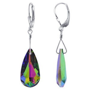 Vitrail Medium Crystal 925 Silver Drop Earrings