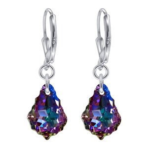 Vitrail Light Crystal 925 Silver Earrings