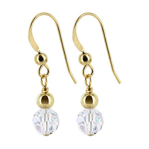 Gold filled Crystal Dangle Earrings