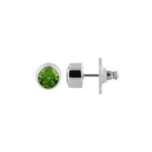 Peridot Gemstone Stud Earrings