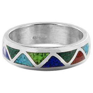 Multicolor Opal Southwestern Style Band