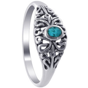 925 Silver Turquoise Gemstone Ring