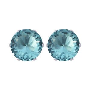 11mm Round CZ Stud Earrings
