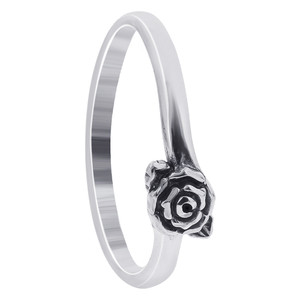 925 Sterling Silver 4mm Rose Ring