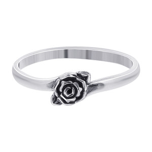 925 Sterling Silver 4mm Rose Ring #TBRS108