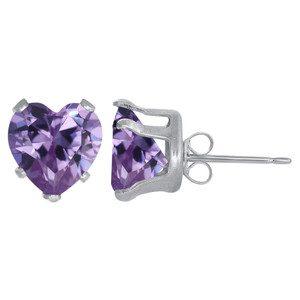 Purple Color February Stud Earrings