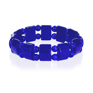 19mm Blue Cats Eye Adjustable Stretchable Bracelet