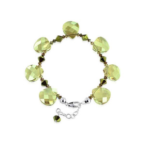 Yellow Crystal 925 Silver Adjustable Bracelet