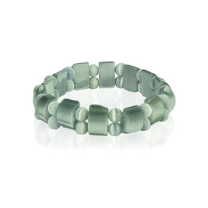 Green Cats Eye Stretchable Bracelet