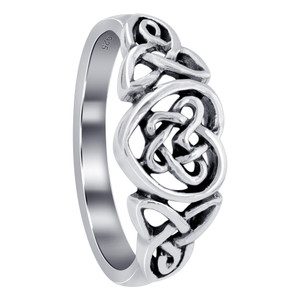 925 Sterling Silver Celtic Heart Ring