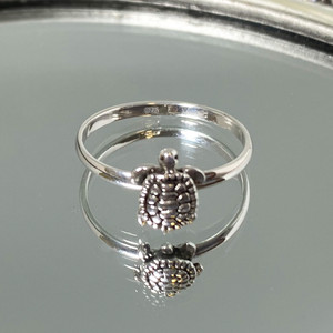 925 Silver Crawling Turtle Ring