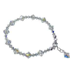 Swarovski Elements Clear Crystal 925 Silver Bracelet