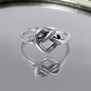 925 Sterling Silver Celtic Love Knot Ring