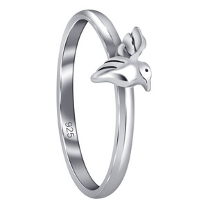 925 Sterling Silver Hummingbird Ring