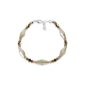Brown Swarovski Elements Crystal 7 inch Bracelet
