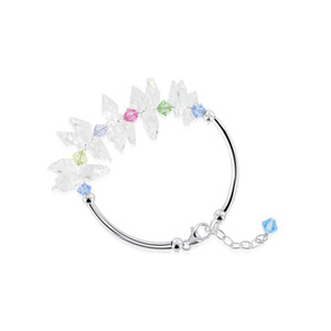 Sterling Silver Multicolor Crystal Bracelet