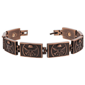 Copper Clad Finish Magnetic Therapy Link Bracelet