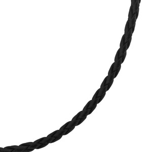 Leather Cord Sterling Silver 16 inch Necklace
