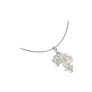 Clear AB Crystal Omega Chain  Necklace