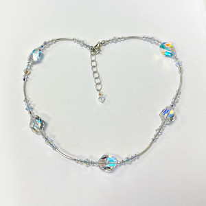 Swarovski Elements Crystal Sterling Silver Necklace