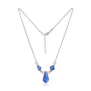 Swarovski Elements Blue Crystal Necklace