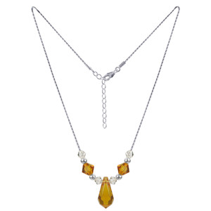 Swarovski Elements Yellow Crystal Necklace