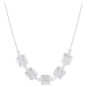 Swarovski Elements Clear Crystal 925 Silver Necklace