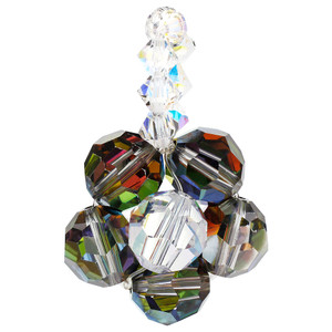 Floral Design Vitrail Medium Crystal Charm Pendant