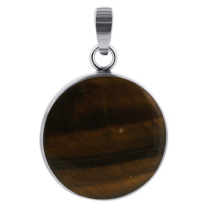Tiger Eye Gemstone Sterling Silver Pendant