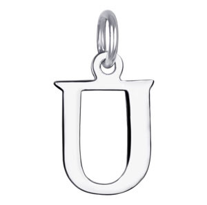 Sterling Silver Initial U Charm Pendant