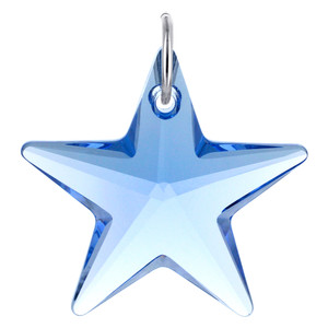 Star Shape Blue Crystal Charm Pendant