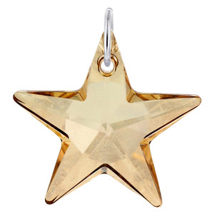 Star Shape Yellow Crystal Charm Pendant
