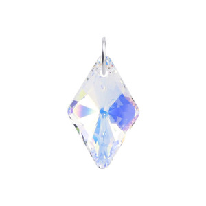 Multifaceted Clear AB Crystal 925 Silver Pendant
