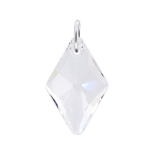Multifaceted Clear Crystal 925 Silver Pendant