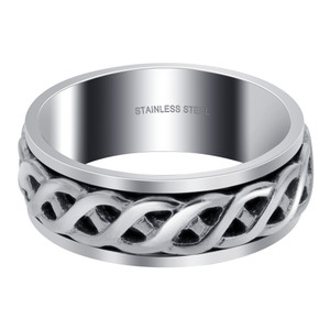 Men's Stainless Steel Celtic Spinner Band Ring