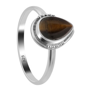 Tiger Eye Gemstone Sterling Silver Ring