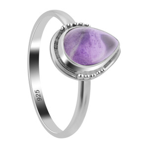 Amethyst Gemstone Sterling Silver Ring