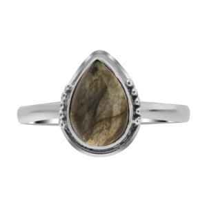 Labradorite Gemstone Sterling Silver Ring