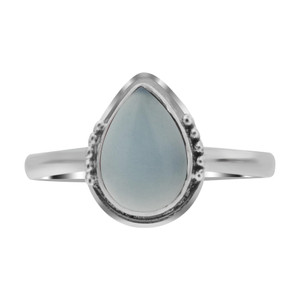 Chalcedony Gemstone Sterling Silver Ring