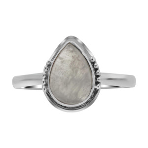 Moonstone Gemstone Sterling Silver Ring