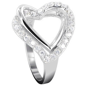 Heart Cubic Zirconia Ring